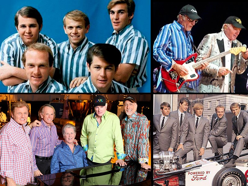 The Beach Boys Then And Now David Marks On Lead Guitar With An Allard Dragon During Their 1964 Tour